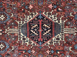 """Karaja rug, 68"""" x 58"""" Excellent condition. Good pile throughout. Fine weave. Solid natural dyes. No stains, damage or repairs. Clean. (More photos on request)."""