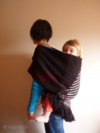 Black And White Tribal Baby Carrier Lovingly Woven By A
