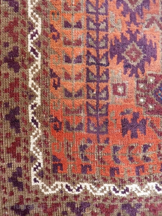 An unusual size for a Mushwani Belouch rug, from Herat region. Low pile but structurally sound, with an autumn palette. 166x72 cms 19th century. (A1812027).