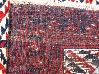 A squarish shaped Turkman Kizil Ayak prayer rug with the softest and shiniest wool you can think of. Very thick pile. A nice tree shaped motive in the central field contrasts with  ...