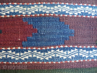 Large and heavy (won´t move on the floor) Sistan kilim. Mint condition, including original finishes on both ends and sides, probably never used. Very finely woven creating incredibly small patters, soft and  ...