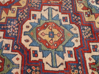 "Persian Kurdish rugs with colours ""to dye for"", soft shinny wool, some repiling. 265x149 cms. (A1705510)."