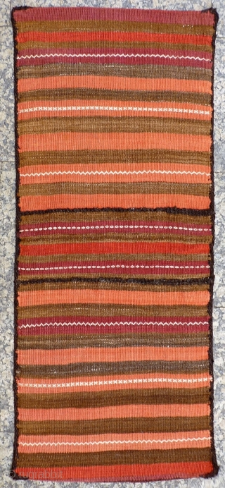 A well woven Belouch saddlebag with natural dyes and in mint condition. 140x58 cms. (AT1806731)