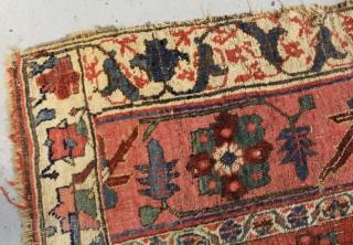 Pretty Antique Bidjar Vagireh rug ( circa 1860-1880 ) size 100 x90 cm