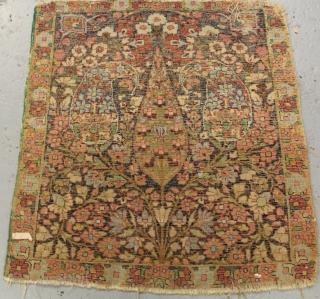 Antique Kirman Mat circa 1900 size 55x50