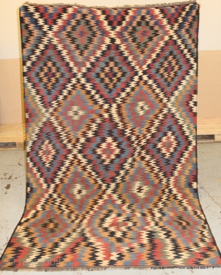 Unusual antique Persian Kurdish Killim size 285cm x174cm.