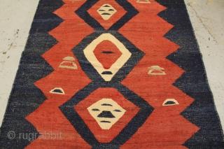 Gallery piece Persian Kurdish killim circa 1920 size 253x148