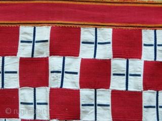 "Ewe cequerboard woman cloth cod. 0742. Handspun cotton. Ghana. Early 20th. century. Dimension cm. 98 x 196 (38"" x 77""). Very good condition."