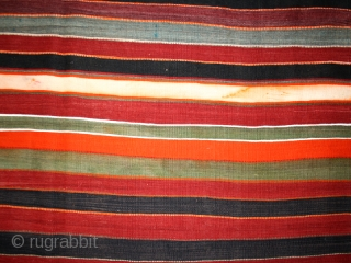 "Kilim ""Mergoum"" cod. 0283. One of the items just added on my new website www.nonplusultra.cloud. Wool. Berber people. Southern Tunisia. First half 20th. century. Very good condition with some decoloration.