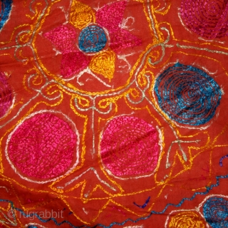 Woman 's dress cod. 0189. one of the special offers posted on my new website www.nonplusultra.cloud Silk embroidery on silk, cotton and glass beads. Kuchi - Pastun people. Afghanistan. Mid. 20th. century.  ...