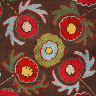 "Kungrad teckhe cod. 0079. Early 20th. century. Dimension cm. 70 x 65 (28"" x 26""). Very good condition. Lined with a cotton textile and mounted on a wooden stretcher. One of the  ..."