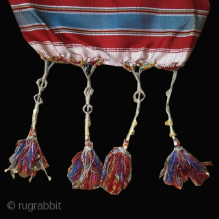 """Tunisian silk sash cod. 0547. Early 20th. century. Mahdia area. Dimension cm. 40 x 320 (16"""" x 126""""). Perfect condition."""