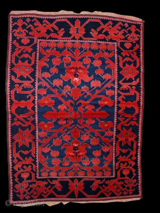 """Pile carpet """"Avar""""cod.0456. one of the new items posted on my website www.nonplusultra.cloud.Wool traditional dyes. Kumik ? people. Northern Daghestan region of the Northeast Caucasus Mountain. Early 20th. century. Very good condition  ..."""