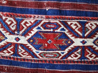 "Bag chuval cod. 0703. Wool, natural dyes. Western Anatolia (possibly Bergama ?). Condition as per images. Early 19th. century. Dimension cm. 70 x 230 (28"" x 90"")."