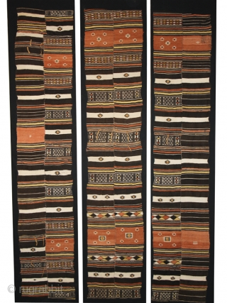 """Textile fragment (central part) """"Arkilla Kerka"""" cod. 0458. One of the items added on my new website www.nonplusultra.cloud. Wool hand woven cotton natural dyes. Peul people. Mali. Early 20th. century. Good condition  ..."""