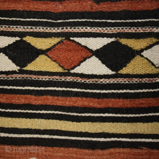 "Textile fragment (central part) ""Arkilla Kerka"" cod. 0458. One of the items added on my new website www.nonplusultra.cloud. Wool hand woven cotton natural dyes. Peul people. Mali. Early 20th. century. Good condition  ..."