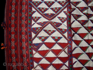 "Kilim cod. 0280. Goat and camel wool. Beduin people. Sahel region. North Africa. Mid. 20th. century. Very good condition. Cm. 173 x 270 (5'8"" x 8'10"").This kind of kilim called ""tapis de  ..."