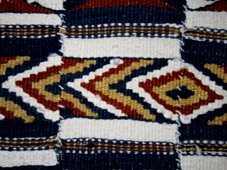 "Ceremonial blanket's ""Arkilla jeengo "" fragment cod. 0346. One of the items posted on my new website www.nonplusultra.cloud. Wool cotton and natural dyes. Fulani people. Mali. Second quarter 20th. century. Very good  ..."