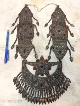 Tribal swat valley of Pakistan silver woman necklace. Handcrafted old high quality silver traditional pashtun woman necklace. Weight  400 gram