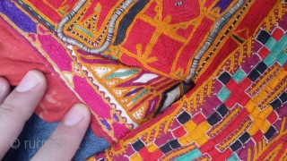 Very fine and Special Pashtun Kakar tribe dress top from Afghanistan.Complete hand embroidery done with pure silk threads.In it's best condition.