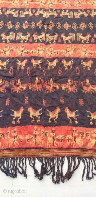 The item you just saw is an extraordinary, single of its kind, extraordinary hand loomed vintage ikat panel from sumba, indonesian from the early 20th century. This is a Genuine Old and  ...
