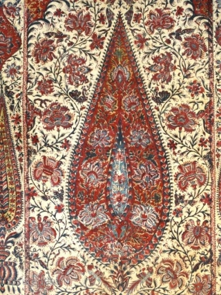 a beautiful Kalamkari in perfect condition 19th century. Size 73.5*45inches