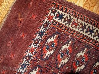 #1B353 Turkoman Yomut chuval 2.6' x 3.7' 1880,in original good condition.