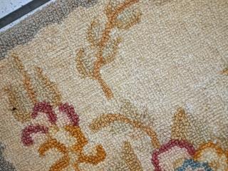 #1C557 handmade vintage American hooked rug 1' x 2' ( 31cm x 62cm ) 1940.C