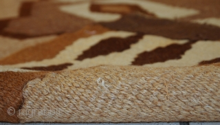 #1C299  Hand made antique Persian Ardabil kilim 2.9' x 6.1' ( 89cm x 188cm ) C.1920