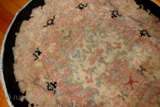 #1B411  Hand made antique Art Deco Chinese rug 2.10' x 4.9' ( 89cm x 149cm ) 1920.C
