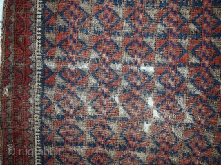 #1C444  Hand made antique Afghan Baluch rug 2.9' x 4.3' ( 89cm x 132cm ) 1880.C