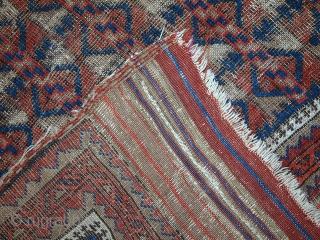 #1C444  Hand made antique Afghan Baluch rug 2.9' x 4.3' ( 89cm x 132cm ) 1880.C