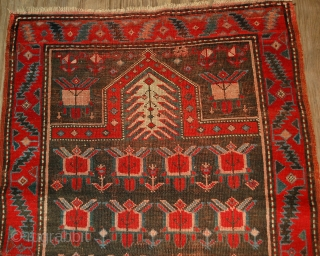 #1B476  Hand made antique Caucasian Karabagh rug 2.10' x 4.11' ( 90cm x 153cm ) C.1890