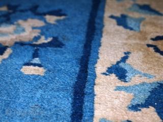 #1c43  Hand made antique Peking Chinese rug 2' x 3.7' ( 61cm x 112cm ) 1900.C