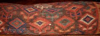 Handmade antique Persian Kurdish runner 3.6' x 17.8' ( 109cm x 542cm ) 1880s - 1B445