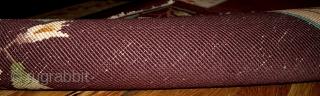 #1B368  Hand made antique Art Deco Chinese pair of rugs 2' x 3.10' ( 61cm x 119cm ) C.1920