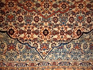 #1B109  Hand made antique Persian Tabriz Hajalili rug 4.5' x 5.6' ( 137cm x 170cm ) 1880.C