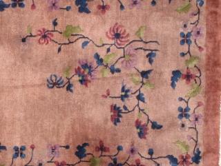 Handmade antique art deco Chinese rug 3' x 6' ( 91cm x 183cm ) 1930s - 1B456