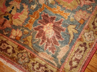 #1B143  Hand made antique Indian Loristan rug 5.8' x 8.8' ( 176cm x 268cm ) C.1880
