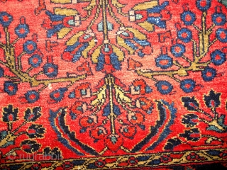 #1C114  Hand made antique Persian Lilihan rug 3' x 5' ( 91cm x 152cm ) C.1920