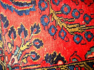 #1C114  Hand made antique Persian Lilihan rug 3' x 5' ( 91cm x 152cm ) C.1920