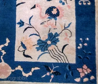 #1B566  Handmade antique Peking Chinese rug 2.7' x 5' ( 82cm x 152cm ) 1900.C