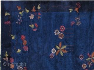 Handmade antique art deco Chinese rug 9.11' x 17.5' ( 305cm x 533cm) 1920s - 1B465