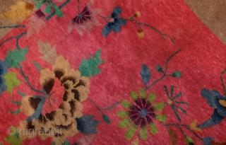 Hand made antique art deco Chinese rug 8.10' x 11.7' ( 273cm x 356cm) 1920 - 1B467