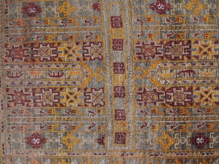 #1C219  Hand made antique Afghan Baluch rug 1.6' x 1.9' ( 50cm x 60cm ) C.1940
