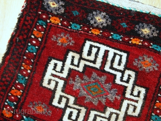 #1C365  Hand made vintage Turkish Anatolian bag 1.1' x 1.1' ( 34cm x 34cm ) C.1970