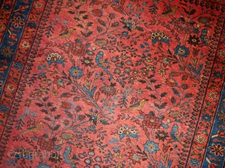 #1B129  Hand made antique Persian Lilihan rug 4.1' x 6.4' ( 125cm x 195cm) 1920.C
