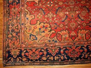 #1B139  Hand made antique Persian Sarouk Farahan rug 3.5' x 4.8' ( 106cm x 146cm ) 1880.C