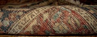 #1B163  Hand made antique Persian Sarouk Farahan rug 3.1' x 5.4' ( 94cm x 164cm) 1880s