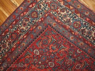 #1B177  Hand made antique Persian Bidjar rug 5.11' x 7.5' ( 186cm x 228cm ) 1880.C